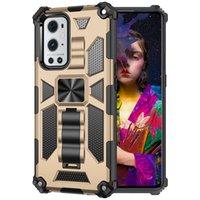 Anti-Fall Phone Cases For Motorola Moto G100 G30 G10 G Stylus 5G Play Power 2021 G9 Oneplus 9 9Pro Nord N10 N100 N200 Armor Ring Stand Holder Back Cover