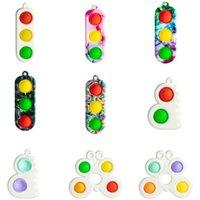 Push Pop Finger Bubble Poppers Sensory Spielzeug Schlüsselanhänger Schmetterling Zappeln Pads Einfache Grübchen Spielzeug Keychain Dekompression Schlüssel Ringhalter H48Y18K