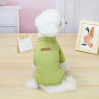 Stripes Pet Puppy Coat Jacket Outfit Round Neck Summer 4 Legs Dog Coat Apparel Pets Supplies Will and Sandy