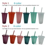Fashion Glitter color cup twinkling Plastic Drinking Tumblers with lid and straw Candy colors Reusable cold drinks tumbler