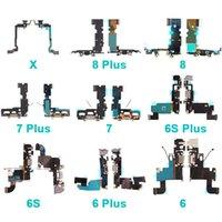 Factory Price Price Mobile Phone USB зарядки порт для iPhone 6 6S 7 8 Plus X Repair Parts Audio Dock Connector Flex