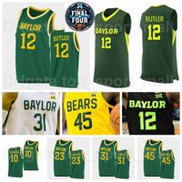 NCAA Basquete Final Quatro Baylor Bears College Jersey 24 Lacearius Dunn 4 Quincy Acy Vinnie Johnson Larry Bird David Wesley University Alta Qualidade