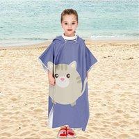 Asciugamano 2021 Cartoon bambino Sunscreen Beach Shawel Moda Bambini Bagno con cappuccio Bagno in microfibra Ragazzi Ragazze Asciugamani Super Assorbente