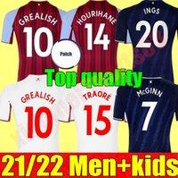 Homen + Kit Kit Grealish Watkins Buendía Jerseys 22 22 Home Away McGinn Aston El Ghazi Wesley Villa Douglas Luiz Mings Konsa Cash M.Trezeguet Camisas de futebol