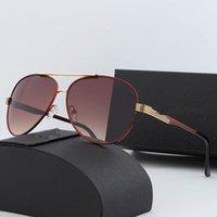 Moda Spor Erkekler için Güneş Gözlüğü 2021 Unisex Buffalo Boynuz Gözlük Erkek Kadın Çerçevesiz Güneş Gözlük Gümüş Altın Metal Çerçeve Gözlük Lunettes
