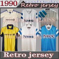 1990 1991 Marselha Retro Futebol Jerseys Olympique de 92 93 1998 1999 2000 Cantona Waddle Futbol Maillot Kit Vintage Futebol Camiseta Classic Camiseta