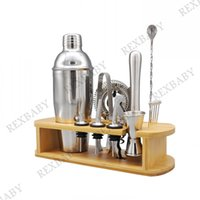 16 in 1 Cocktail Shaker Set Tool 18 8 Stainless Steel Bartender Kit with Sleek Bamboo Stand & 25oz Shaker, Professional Bar Tools for Drink Mixing, Party, Home