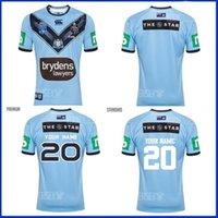 2021 2022 Austrália Blues Rugby Jersey Homens Home True Blue Captains NSW estado de origem