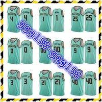 Jersey Atacado Gordon Hayward Lamelo Ball Devonte Graham Terry Rozier Mint Mint Pressing Personalizado Basketball Camisas