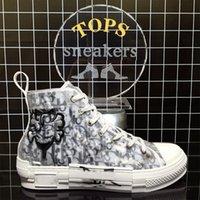 Designer di alta qualità Scarpe casual Scarpe casual Oblique Technology B23 Canvas Trainer Piattaforme Piattaforma Trainer Sneaker Mens Womens Fashion Pairs Outdoor con regalo