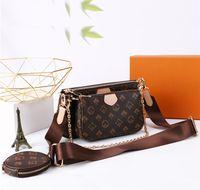 WOMEMN LUXURYS 디자이너 가방 먼지와 원래 상자가있는 3 개 세트 2021 메신저 여성 totes 핸드백 + 가방 + 지갑 빈티지 어깨 지갑 클래식 크로스 바디 핸드백