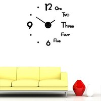 Wall Clocks 1PC Creative DIY Clock Nordic Style Hanging Sticker Fashion Decorative For Home Living Room