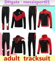 2022 AC TrackSuit Jersey de football adulte Ensemble de la fermeture à glissière complète 21/22 Milan Jacket 2021/22 Piatek Calhanoglu Football Suit