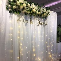 인공 꽃 행 배열 세트 골드 잎 결혼식 아치 배경 장식 코너 삼각형 꽃 러너 벽 홈 장식