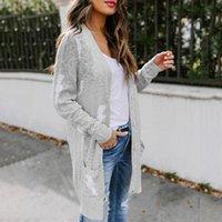Женские трикотажные тройники 2021 осенью и зима повседневные грома вязаные кардиганы женщины мода негабаритный длинный свитер пальто плюс размер 5xl Outwea
