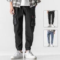 Cargo jeans hommes 2021 nouvelle mode décontracté surdimensionné Harem Joggers Pantalons Men Streetwear Hip Hip Hop Pantalon de jambe large