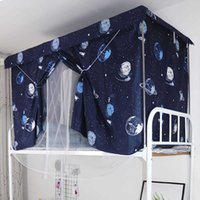 Estudiante Dormitorio Blackout Paño Mosquito Net Cable Cortina Integrada Tienda Superior Baja Hombre Hombres Dormitorio Dormitorio Doble Cortinas de doble uso