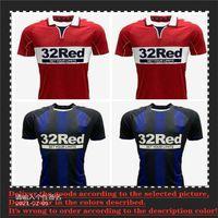 2021 2022 Middlesbrough Jersey 20 21 Ashley Michael Fletcher 11 Flint 24 Asa 26 Assombalonga 9 Home Away Men Kit Camisa de Futebol