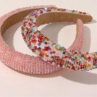 Bande per capelli a cristallo barocco per le donne Lady Lady Luxury Shiny imbottito Diamond Diamond Headband Hair Hoop Fashion Accessori per capelli da sposa 202 Z2