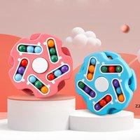Magia Kids Decompression Toy Festa Favor Fore Bean Placa Cognitivo Educação Girando Grânreio Jogo de Grânulos Crianças Fidget Cube Anti Stress HWD