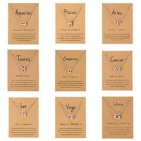 Designer Necklace Luxury Bracelet Men Women 12 Horoscope Zodiac Sign Gold Silver Color Pendant Aries Leo Constellations Jewelry Kids Holiday Gifts
