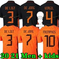 Memphis 2021 Países Baixos Futebol Camisa de Jong Holland de Ligt Strootman Van Dijk Virgil 2022 Jersey Jersey Adulto Men + Kid Kit