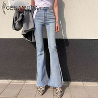Genayooa Skinny Jeans Donna Push Up 2019 Blue Donne Jeans Pantaloni a vita alta Sexy Streetwear Blare Pants Coreano Autunno Autunno Y0320