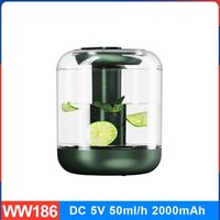 Humidifiers Smart Touch Humidifier Visual Water Tank Large Volume Spray With Night Light Can Add Flowers And Fruits CN(Origin)