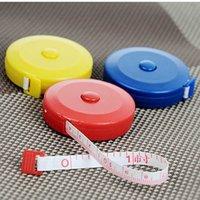 لون جيب 150cm الخياطة قابل للسحب الشريط المحمولة التسوق أداة قياس الخياطة مريحة وعملية
