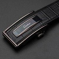 Ciartuar Ledergürtel Automatische Schnalle Gürtel für Männer Echtes Leder Taille Herren Luxus Designer Gürtel Hohe Qualität Mode Strap 210630