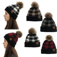 55% de rabais sur les adultes de Noël épais chapeau hivernale chaude tricotée Pom Pomes Bonnets Chapeaux Femme Squullies-Bonnets Fille Ski Cap 9302 100pcs