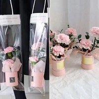 1 шт. Мини бумаги Цветочный букет букет цилиндр трансстант PVC сумка подарочная обертка