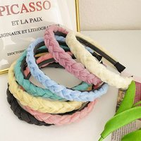 South Korea simple and versatile go out Ogan band braided lace mesh wash face headband hair ornament girl