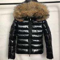 Nuovo Top Fashion Womens Fur Nylon Down Giacca Designer Lady Warm Head Bottone a scatto con cappuccio Chiusura con zip Outwear Women Parka Winter Coat S-XL