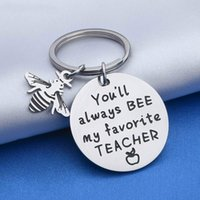 10Pieces Lot 2021 Teacher Retirement Gifts Appreciation Keychain Thank You Gift for Coaches Mentors Boss Teaching Assistance from Student