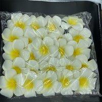 100pcs 7cm all'ingrosso Plumeria Plumeria schiuma hawaiana Fiore frangipane per la festa di nozze Capelli clip flower jlloim fortunato 680 s2