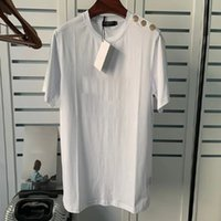 Bronzing 인쇄 편지 Womens T 셔츠 짧은 소매 여성 Tshirt over side t 셔츠 소녀 여성 여름 패션 의류
