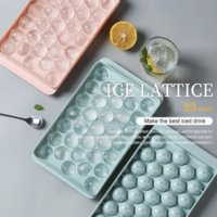 Plastic Molds Tray 18 33 Grid 3D Round Ice Molds Home Bar Party Use Round Ball Cube Makers Kitchen DIY Ice Cream Moulds