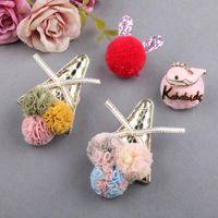 2pcs Netting Twine Ice Cream Small Ball For Kids Headband Clothes Hats Dress Decoration Decorative Flowers & Wreaths
