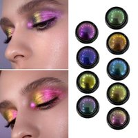 Lidschatten Diamant Helle Perlglanz Chamäleon Lidschatten Hohe Glanz Metallic Shiny Palette Pulver Pigment Makeup