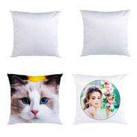 Sublimation Pillowcase Heat Transfer Printing Pillows Covers Blank double-sided pure white Pillow Cushion 35*35 40*40 45*45cm Z2992