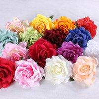 Alta simulación Rosa Flor cabeza Seda DIY DIY Fondo de la pared Decoración Decorativa Flores Guirnaldas