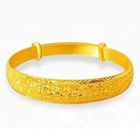 Bracelets de couleur d'or pure pour hommes Femmes Chaîne Bracelet Bracelet Bracelet Pulseira Homme African Gold Bijoux Homme Femme Bijoux