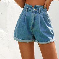 Женские шорты мода высокая талия джинсовая короткая опциональная свободная растяжка эластичная широкая нога ковбой джинсы панталон Cortos Mujer # G3