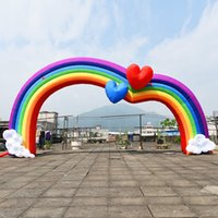 High Quality Custom Design Advertising Inflatable Welcome Entrance shark archway colorful Round Arch outdoor