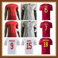 Spielerversion 2021 Spanien Nationalmannschaft Fussball Jersey 2022 Camiseta España Paco Morata A.Inasta Pique 21 22 Europäische Alcacer Sergio Alba Männer Fussball Hemden