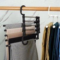 5 в 1 многофункциональный брюк для хранения брюк регулируемые брюки галстуки шельфа шкафруют организатор из нержавеющей стали вешалки Rra4330