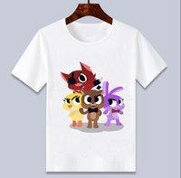 Five Night à Freddy FNAF T-WILDER DES ENFANTS Dessin animé Tee shirts T-shirt pour garçons / filles