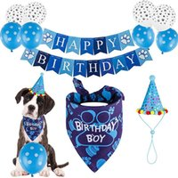 Dog Apparel Pet Dogs Birthday Caps Bandana Headwear Balloon Hat Triangle Scarf Cat Costume Christmas Party Accessories