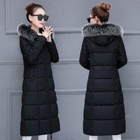 Jaqueta de inverno Mulheres Grande pele com capuz parka longos casacos de algodão acolchoado senhoras inverno casaco mulheres quentes engrossar jaqueta feminina inverno s9s7 #